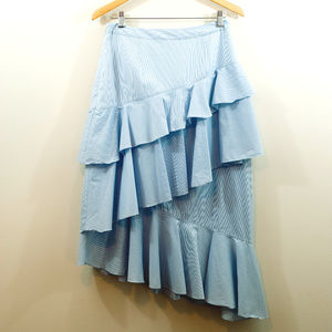 Chelsea28 Blue Ruffle Tiered Skirt EUC